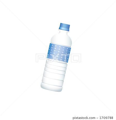 Illustration of a blue plastic bottle 1709788