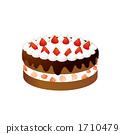 巧克力蛋糕的例證 1710479