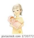 어머니, 모자, 아기 1730772