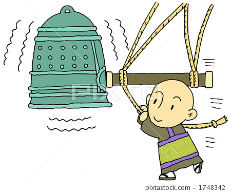 The temple bell and monk 1748342