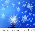 눈과 크리스마스 트리 1751120