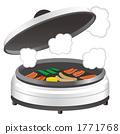 핫 플레이트에서 요리하는 불고기 일러스트 1771768