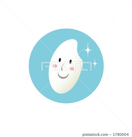 Smiling rice grain illustration 1780004