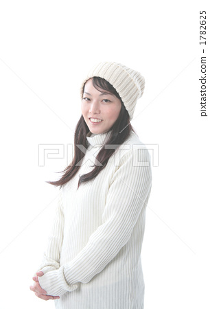 Women with knit cap 1782625