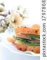 햄과 치즈 샌드위치 1797868