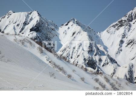 겨울산, 설산, 산 1802804