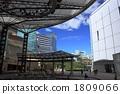 이벤트 광장이있는 도시의 풍경 1809066