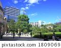 공원이있는 도시의 풍경 1809069