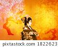 Spring image Japanese dance 1822623