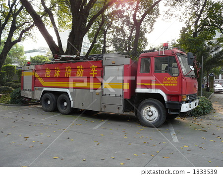 Stock Photo: firetruck, fire-engine, vehicle