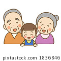 ปู่ย่าตายายและหลาน 1836846