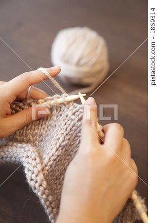 Handicrafts Knitting Stitch Stock Photo 1869314 Pixta