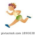 달리는 초등학생 소년 1890638