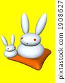 兩隻親子兔(Tongari耳朵) 1908627