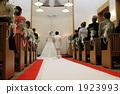 教會婚禮教堂新娘和新郎2 1923993