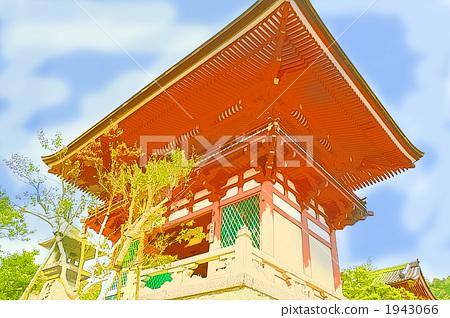 Kiyomizu-dera Niimon Digital Art 1943066