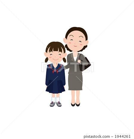 중학생과 어머니의 일러스트 1944261