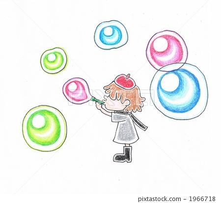 soap bubbles, soap bubble, girl 1966718