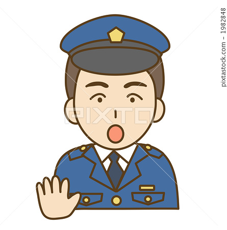 Police officer posing 1982848