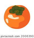 甜柿 水果 矢量 2006390