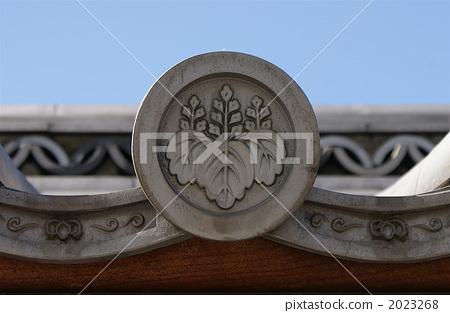 paulownia crest, family crest, tile 2023268