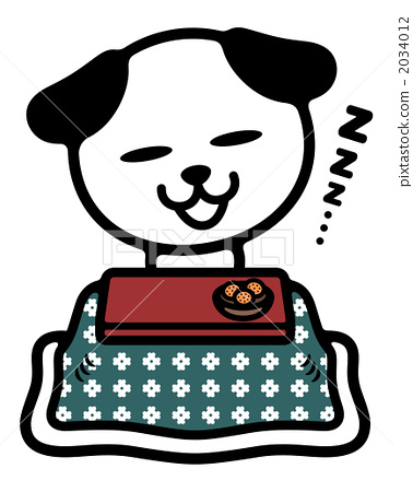 A dog sleeping in a kotatsu 2034012