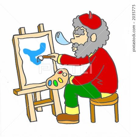 painter, an artist, uncle 2035775