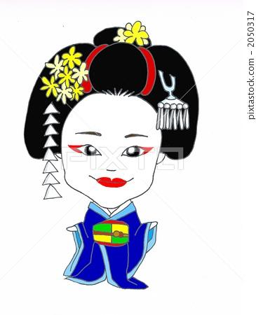 apprentice geisha, geiko, kabuki 2050317