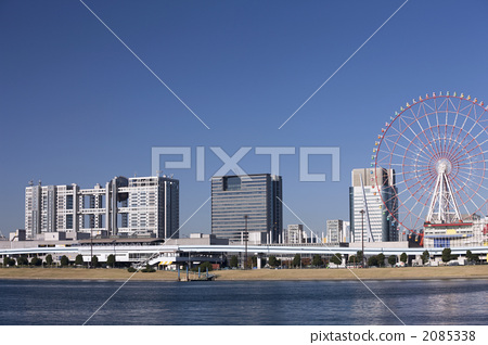 Odaiba Fuji TV Building and Palette Town - Stock Photo [2085338] - PIXTA