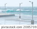 汹涌浪潮 波涛汹涌的海面 白浪 2085709