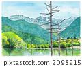 Watercolor picture Kamikochi 2098915