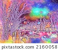 roadside trees, illumination, pastel 2160058
