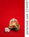 용띠과 금줄 장식 세로 2012 년 2214387