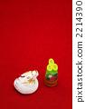 용띠와 소나무 장식 인형 세로 2012 년 2214390