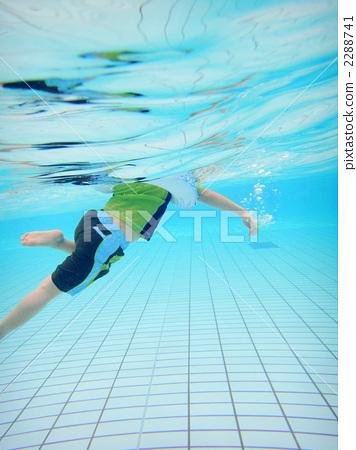 수영, 수영장, 아이 2288741