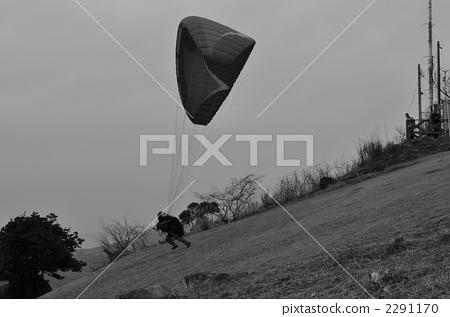sky sports, paraglider, take off 2291170