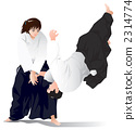Aikido performance (Throwing technique) 2314774