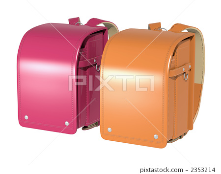 School bag pink orange 2353214