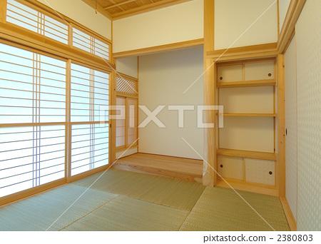 일본 전통 건축, 도코노마, 목조 주택 2380803