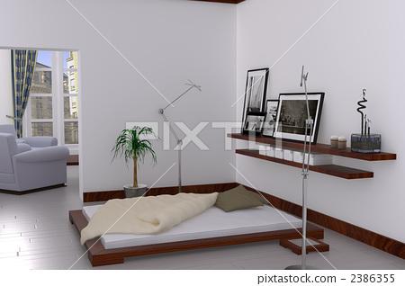 interior, interiors, bedchamber 2386355