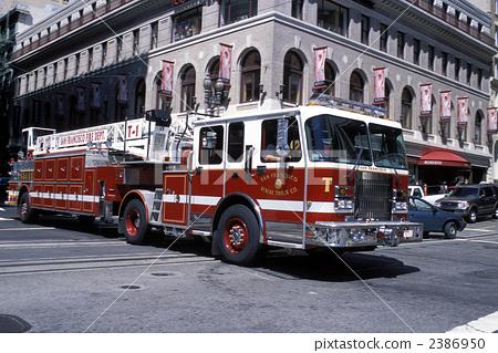 Stock Photo: firetruck, fire-engine, usa
