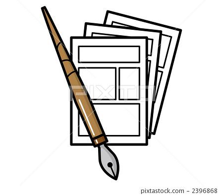 pen, pens, manuscript paper 2396868