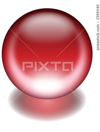 Glass beads ruby 2399340