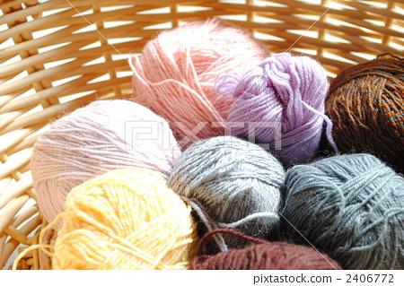 Thread Handicrafts Knitting Stock Photo 2406772 Pixta