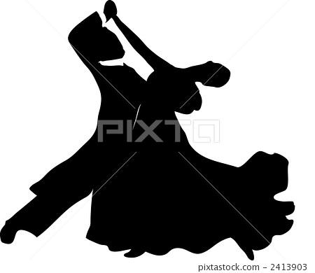 사교 댄스 표준을 추는 커플 2413903