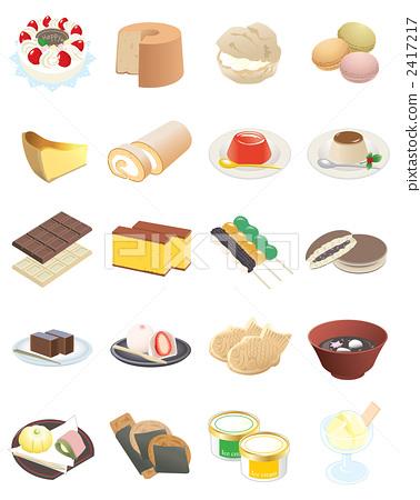 矢量 甜點 甜品 2417217