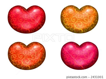 heart [red 계 다채로운] 2431001