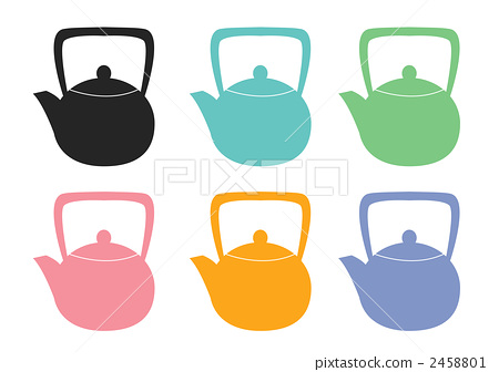 Teapot 6 color set 2458801
