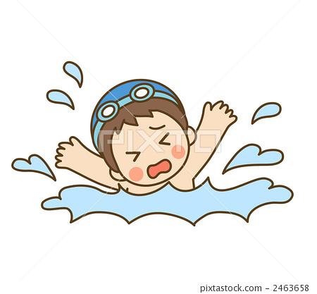 sinking  drowning  drown stock illustration  2463658 clipart drowning man person drowning clipart