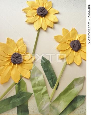 Paperwork Origami Sunflower Stock Photo 2466406 Pixta